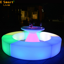 led illuminated furniture bar seat variety combine bar night club KTV plastic chair with led lighting