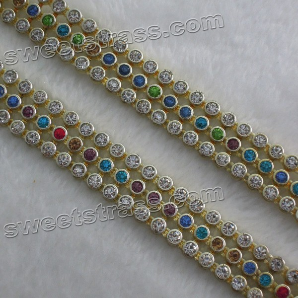 Factory wholesale stretch plastic rhinestone banding roll
