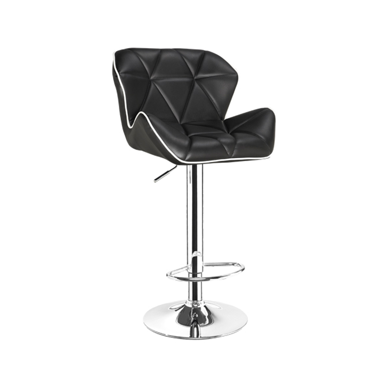 New design modern metal legs PU seat bar stool