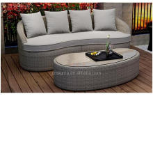 2017 Spring sale all weather fiberglass wicker cheap outdoor garden sofa set furniture