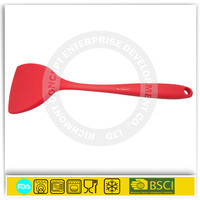 Kitchen cooking utensil solid nylon inside spatula silicone turner