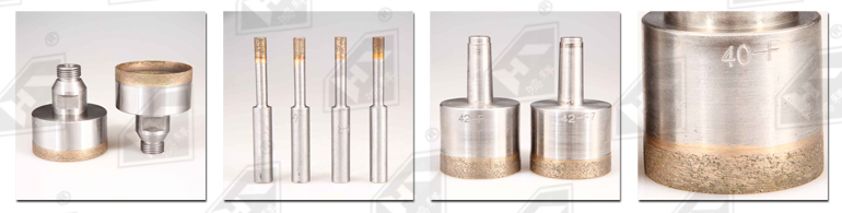Diamond drill bits for glass drilling machine