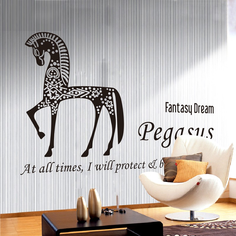 N238B Horse Removable Wall Stickers Big Size Wall Decals Vinyl Wall Sticker