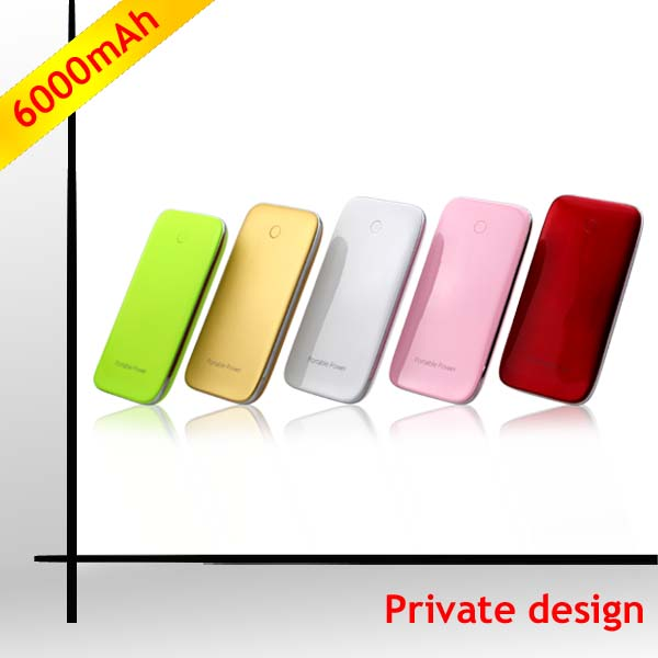 2014 NEWEST Patent product ! 6000mah polymer hp power bank