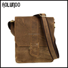 Vintage Style Mens Crazy Horse Genuine Leather Sling Bags