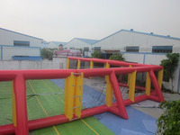 Inflatable NON-printing paintball arena