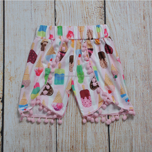 hot sale summer children trousers girl ice cream pink pants