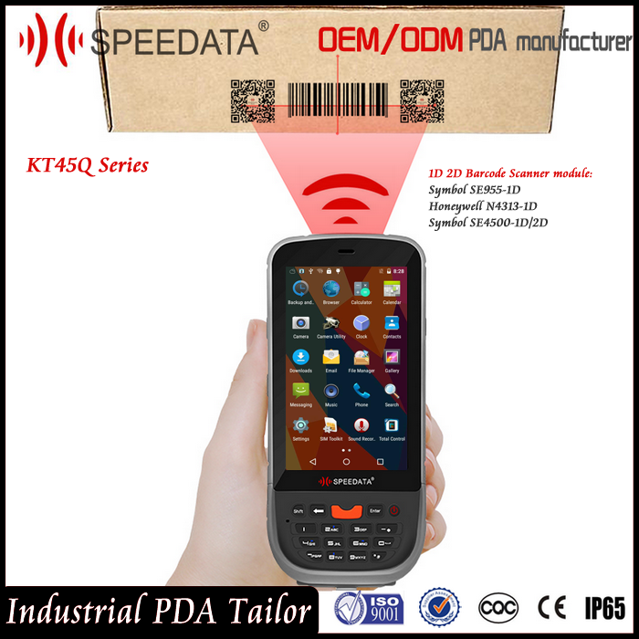 Cheapest Android5.1 2D Barcode Reader Scanner PDA, Handheld Wireless 2D Barcode Scanner with Symbol SE4500 Barcode Scanner