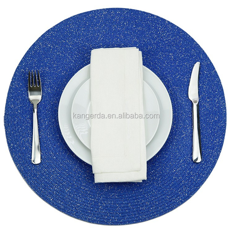 Eco-friendly Modern Decorative Round Paper Lurex Table Placemat