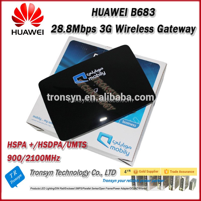 New Original Unlocked HSPA 28.8Mbps HUAWEI 3G WiFi Router Outdoor B683 With 4 RJ45 LAN Port And USB Port