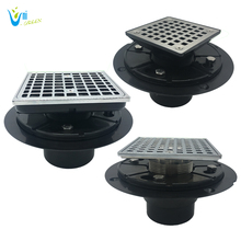 CUPC shower drain/ floor drain/shower pan drain with square shower drain grate