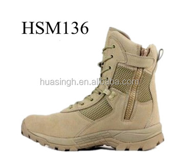fast wicking lining side zipper military performance combat desert boots