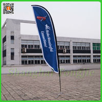 China Outdoor Advertising Beach Flag Manufacturers