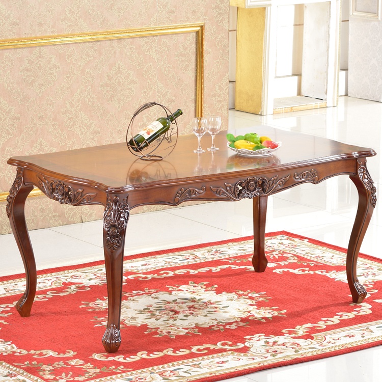 Affordable rubber wooden dining table dining room for Affordable wood furniture