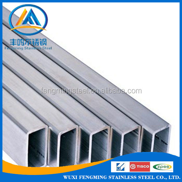 China Factory 201 202 304 316 430 Seamless Welded Square Stainless Steel Pipe Weight