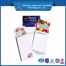 Refrigerator soft pvc spiral shaped fridge magnet notepads