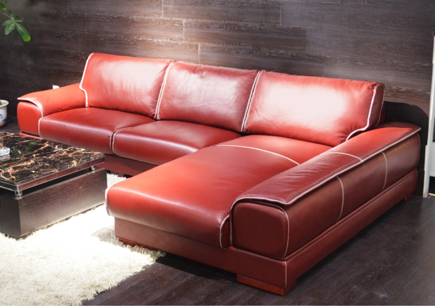 Wholesale leather sofa set red - Online Buy Best leather sofa set ...