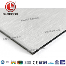 GLOBOND Brushed Aluminium Composite Panel Acp For Outdoor Mosaic Wall Sticker