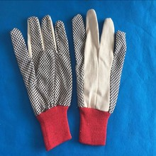 Dots on canvas working gloves of manufacture