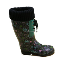 Ladies Rain boots Wellington boots rubber boots with print