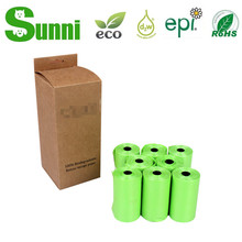 Dog waste bag eco,pet biodegradable waste bags