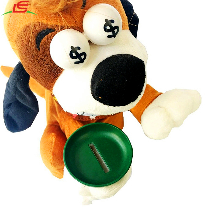 Crazy Laughing Dog Piggy Bank Plush Electric Toys for Kid Children