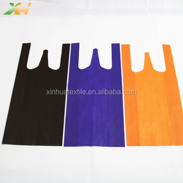 Cheap Recyclable Colorful Non Woven T-shirt Bag Nonwoven Vest Bag