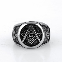 Mens Military Ring 316L Stainless Steel Champion Mens Ring