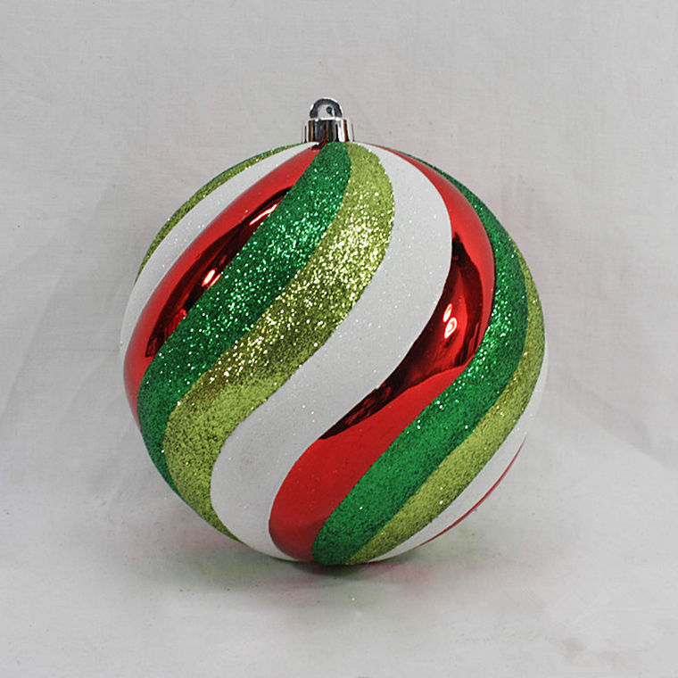 Christmas plastic hand painting glitter wholesale plastic colorful blowout ball decoration / bauble ornamnets