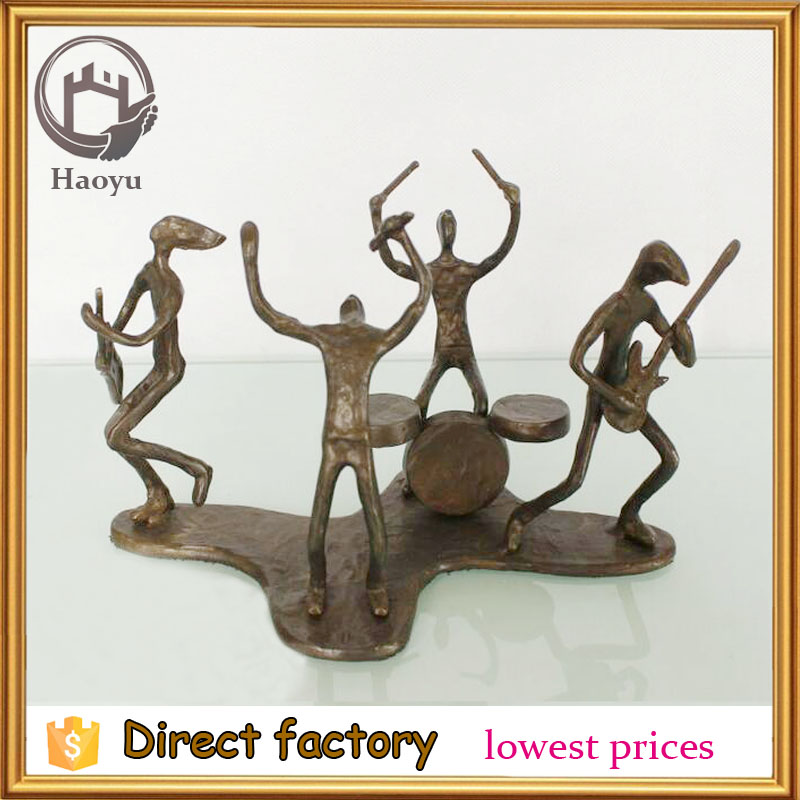 Rock Band wrought iron ornaments cast iron bronze sculpture for home decoration 13080-c-10-xy