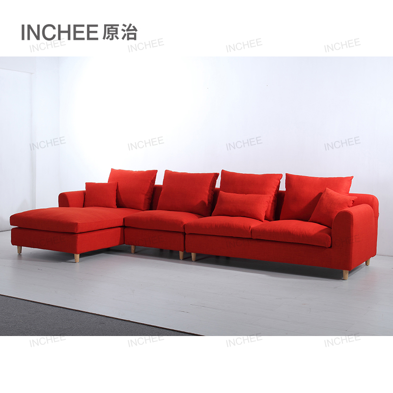 New L Shaped Fabric Sofa People Lounge Designs Sets Lounger Product On Alibaba
