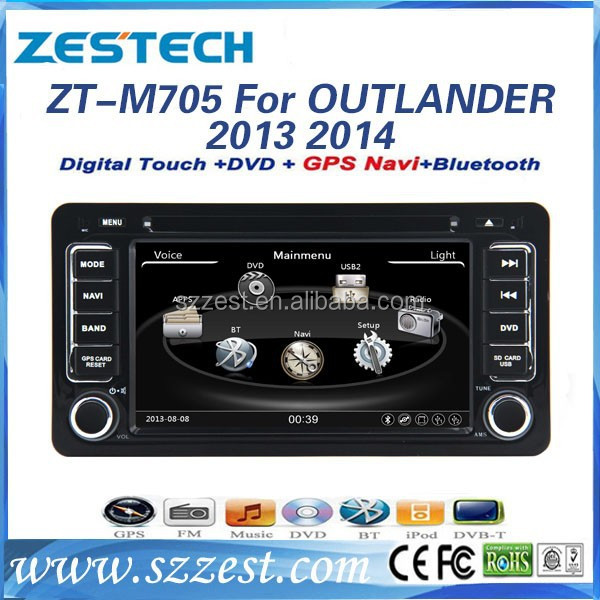 ZESTECH touch screen car dvd for Mitsubishi Outlander with in dash double din with BT ATV RADIO DVD 3G SD