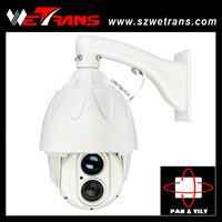 "2014 Hotsale 7"" outdoor/indoor H.264 Night Vision 150m 1.3MP ptz ip dome camera"
