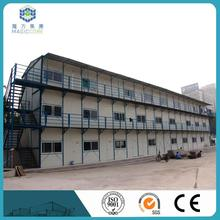 Three storeys made eps sandwich panel 100mm high rise prefabricated building for worker accommodation