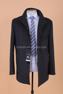 Wholesale High Quality Men's Winter Outdoor Long Wool Coat Chinese Factory