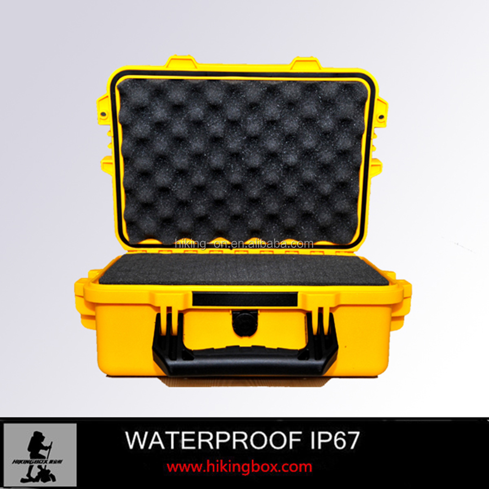 IP67 Hard PP Waterproof Durable plastic equipment tool case /Rugged Plastic box with foam insert 395*299*148mm