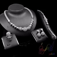 fashion African bridal wedding jewelry necklace sets jewelry bracelet settings without stones