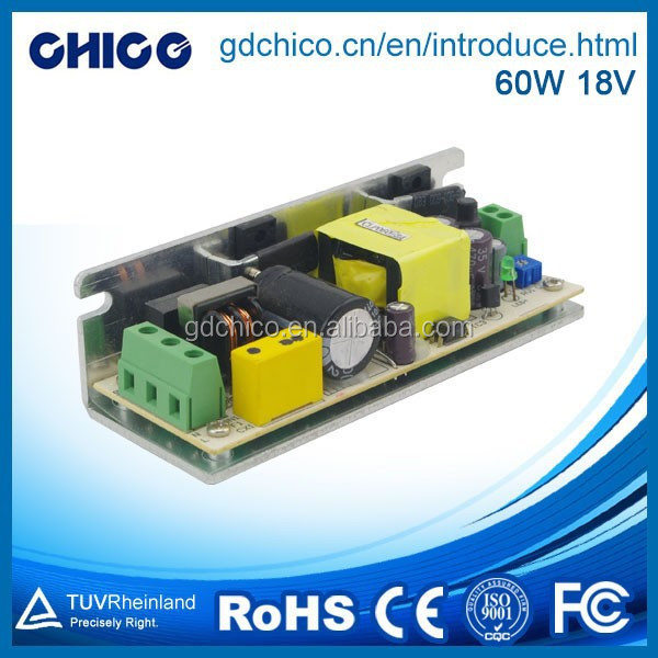 60W 18V single output open frame led driver power supply CC060ALA-18