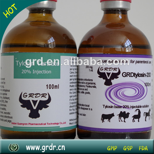 Injectable Hcg 20% Tylosin Tartrate injection For Poultry