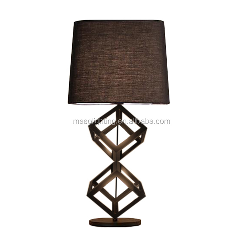 Modern New Designed Metal Table Lamp Simple Creative Fabric Black talbe lamp with CE ROHS UL approved