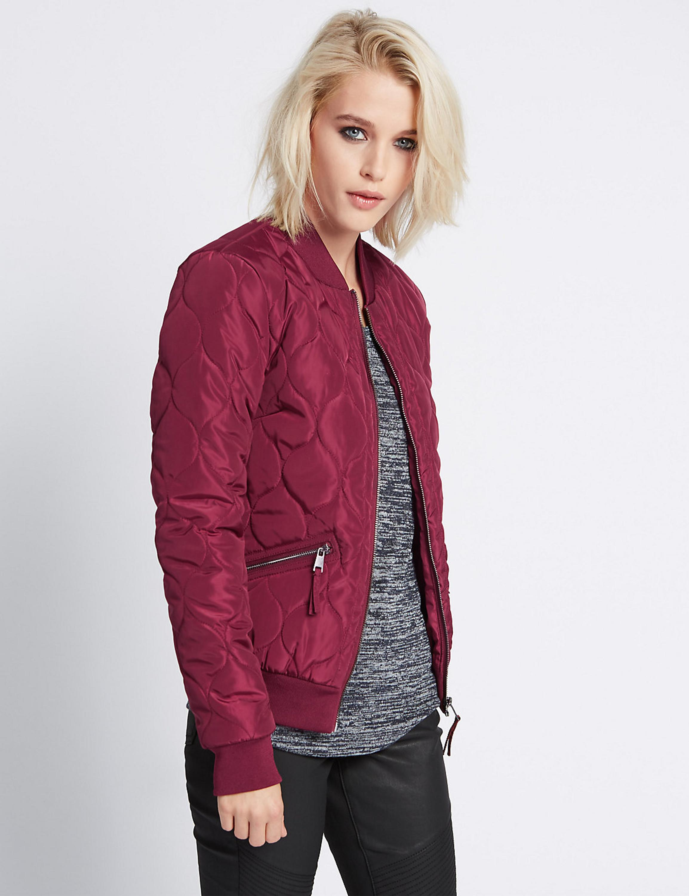 Fashion Cotton Padded Bomber Jackets Autumn&Winter women Basic Pilot Jacket Coats Stand neck Outwear China Factory