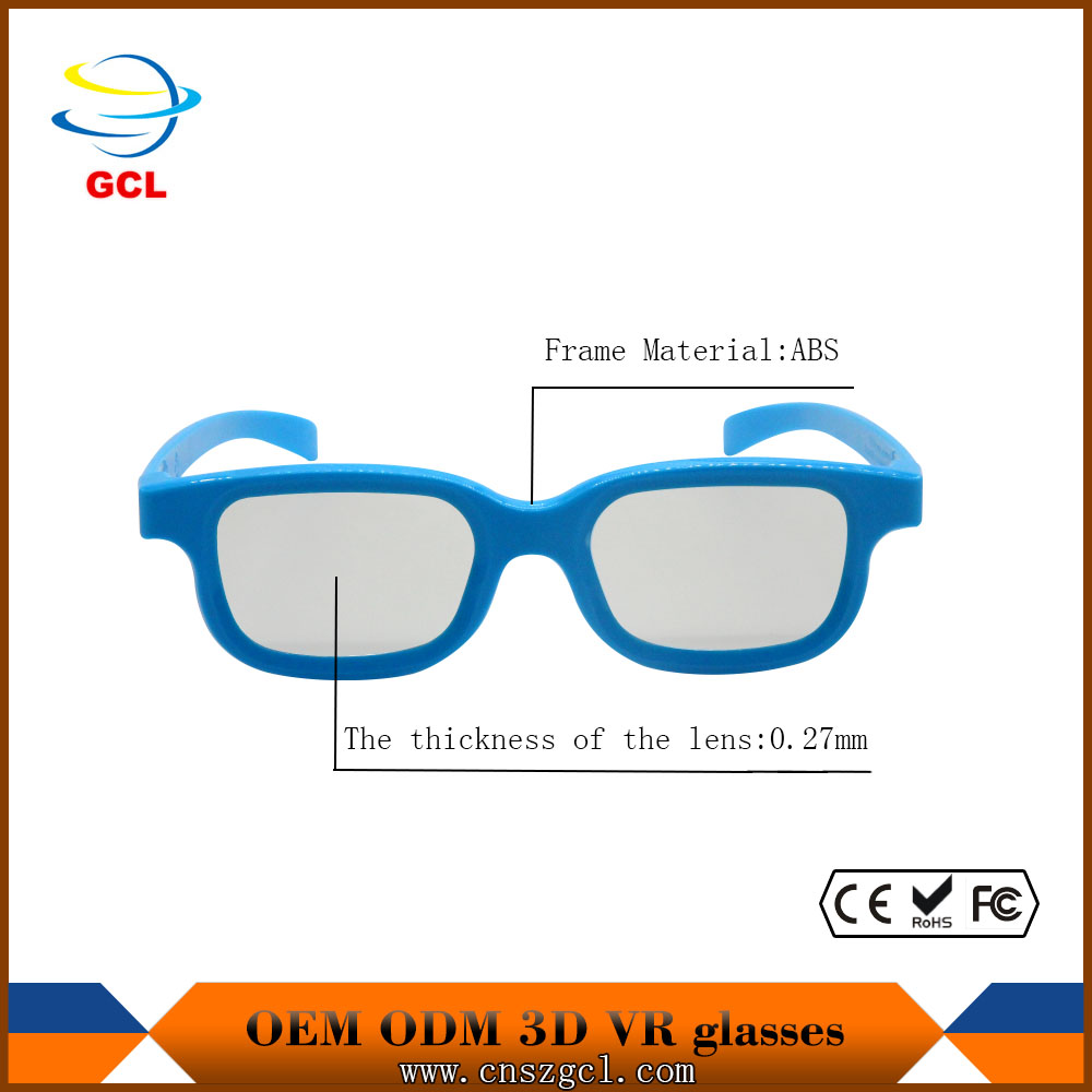2017 Hot sale cheap beauty kids 3d active glasses tr90 eyeglasses for movie