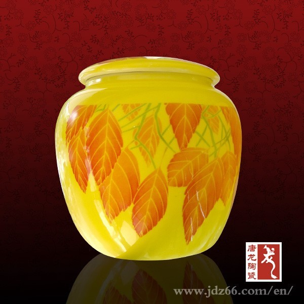Chinese famous ceramic tea caddy