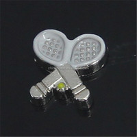 China Wholesale Badminton Sports Floating Charms for Locket