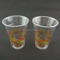Disposable PET Plastic clear Cups for Cold Coffee,Juice