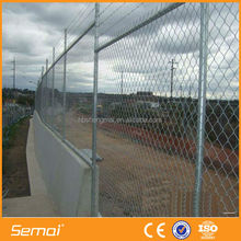 Galvanized / PVC Coated steel Chain Link Garden Fence (anping factory)