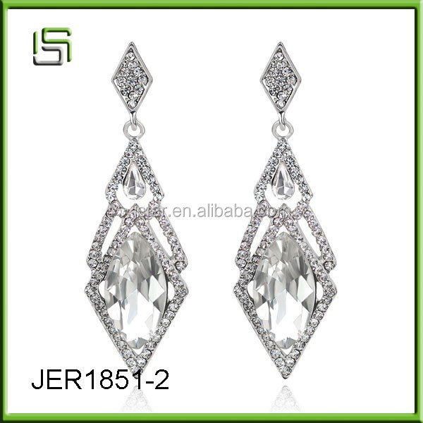 Ladies wholesale anti-allergic drops of diamond acrylic earrings