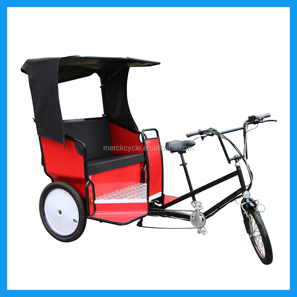 Three Wheel Three Passengers Environment Friendly Recreational Activity Tricycle Pedicab