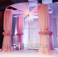Easy set up portable white pipe and drape system lightweight wedding backdrop hall