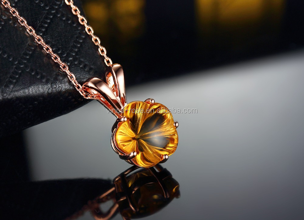 Wholesale india Sterling Silver gemstone jewellery citrine stone imitation jewellery